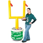 """Beistle 6' 2"""" x 28"""" Inflatable Goal Post Cooler With Football"""