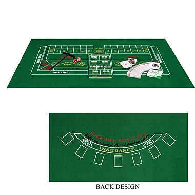 Beistle Blackjack Craps Game Set
