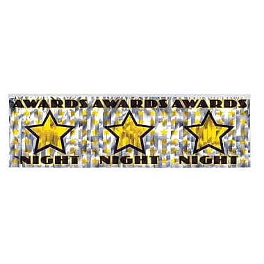 Flame Resistant Metallic Awards Night Fringe Banner, 14