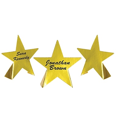 Gold Foil Star Place Cards, 3-1/2