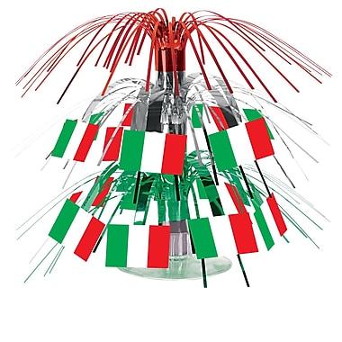 Centre de table en mini cascade drapeau italien, 7 1/2 po, 4/paquet