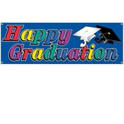 "Beistle 5' x 21"" Happy Graduation Sign Banner, 3/Pack"