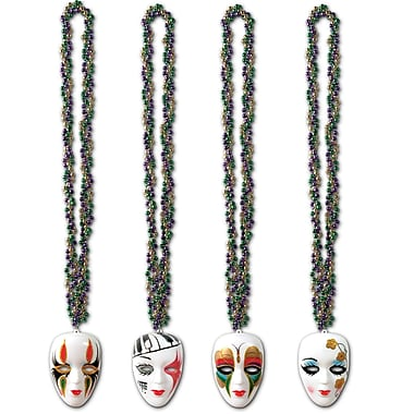 Braided Beads With Mime Medallions, 36