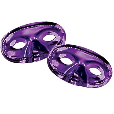 Metallic Half Mask, Purple, 17/Pack