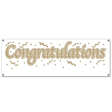 Congratulations Sign Banner, 5' x 21