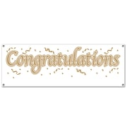 "Beistle 5' x 21"" Congratulations Sign Banner, 3/Pack"