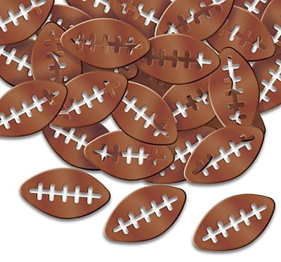 Beistle Footballs Fanci Confetti, Brown, 5/Pack