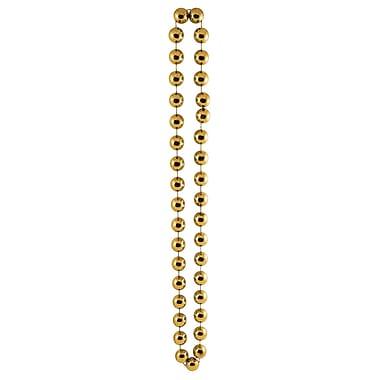 Perles de fête géantes, 22 mm x 40 po, dorées, 3/paquet