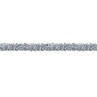 Guirlandes ornementales 6 épaisseurs résistantes aux flammes, 4 po x 15 pi, argentées, 2/paquet