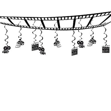 Décoration de plafond plateau de tournage, 12 po x 12 pi, 2/paquet