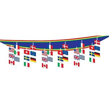 Décoration de plafond drapeaux internationaux, 12 po x 12 pi