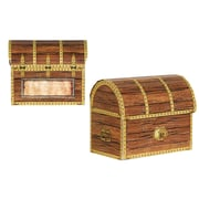 "Beistle 3 1/2"" x 4 1/4"" Pirate Treasure Chest Favor Box, 12/Pack"