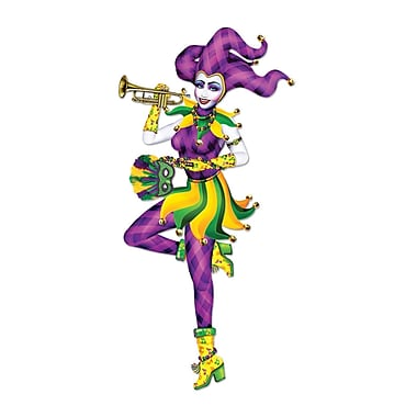 Jointed Mardi Gras Mime, 3' 2