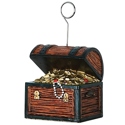 Beistle 6 oz. Treasure Chest Photo/Balloon Holder; 3/Pack