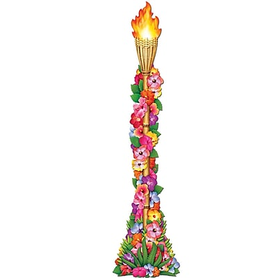 Beistle 4' Jointed Floral Tiki Torch, 3/Pack