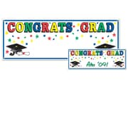 "Beistle 5' x 21"" Congrats Grad Sign Banner, 3/Pack"