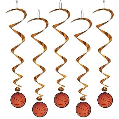 Guirlandes spirales avec ballon de baseball 3 pi 4 po, paquet de 15