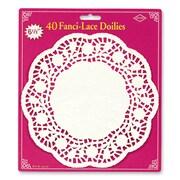 "Fanci-Lace Bond Doilies, 6-1/2"", White, 160/Pack"