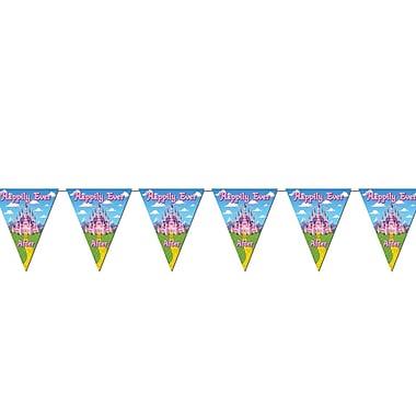 Bannière à fanions princesse, 10 po x 12 pi, paquet de 4