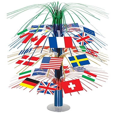 International Flag Cascade Centerpiece, 18