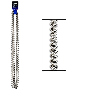 Beistle Large Round Party Beads Necklace, 12 mm x 48