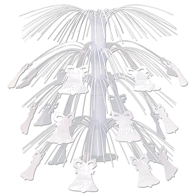 Ornement de table cascade de cloches blanches, 18 po, paquet de 3