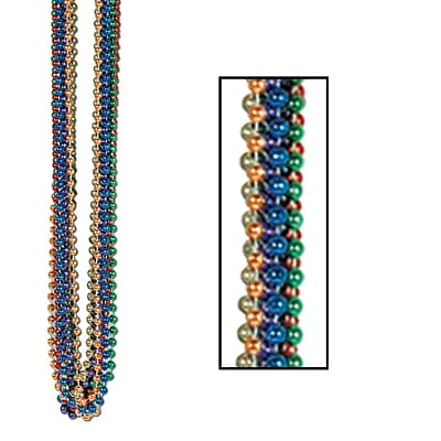 Beistle Bulk Party Beads Round, 7 mm x 33