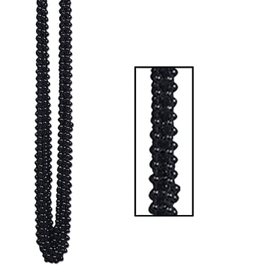 Beistle Bulk Small Round Party Beads Necklace, 7 mm x 33