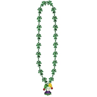 Mardi Gras Jester Beads With Jester Medal, 33