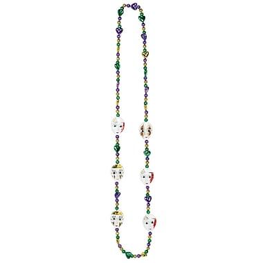 Beistle Mardi Gras Mime Beads Necklace, 42