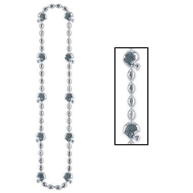 Colliers de perles de football, 36 po, argentés, 6/paquet