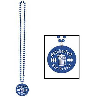 Collier de perles avec médaillon Oktoberfest imprimé, 33 po, paq./8