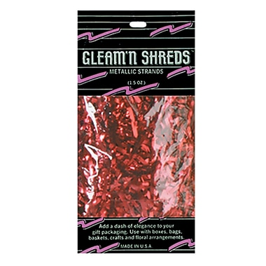 Gleam 'N Shreds Metallic Strands, Red, 4/Pack