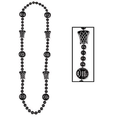 Beistle Basketball Beads Necklace, 36
