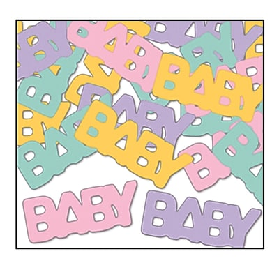 Beistle Baby Fanci Confetti, Assorted, 5/Pack