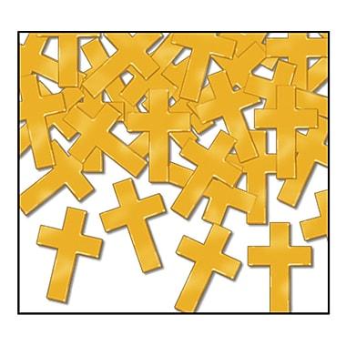 Beistle Crosses Fanci Confetti, Gold, 5/Pack