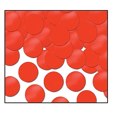 Beistle Dots Fanci Confetti, Red, 5/Pack