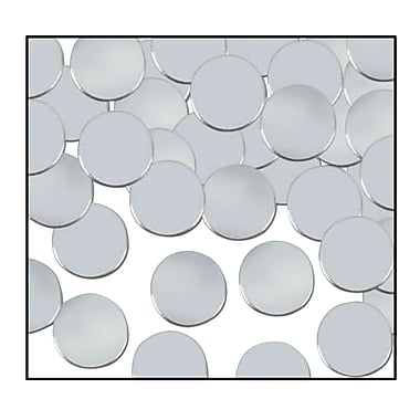 Beistle Dots Fanci Confetti, Silver, 5/Pack