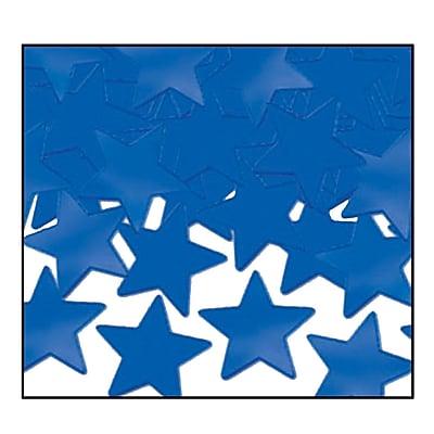 Beistle Stars Fanci Confetti, Blue, 5/Pack