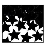 Beistle Stars Fanci Confetti, Black, 5/Pack