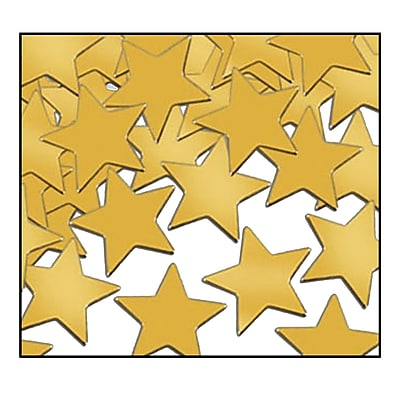 Beistle Stars Fanci Confetti, Gold, 5/Pack