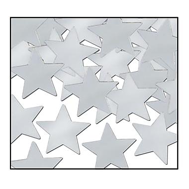 Étoiles Fanci-Fetti, argentées, 5/paquet