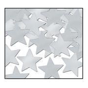 Beistle Stars Fanci Confetti, Silver, 5/Pack