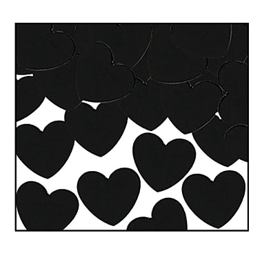 Fanci-Fetti Hearts, Black, 5/Pack