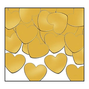 Fanci-Fetti Hearts, Gold, 5/Pack