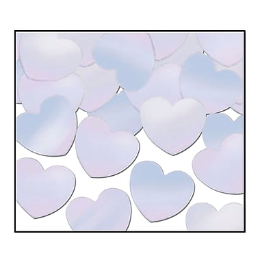 Beistle Hearts Fanci Confetti, Opalescent, 5/Pack