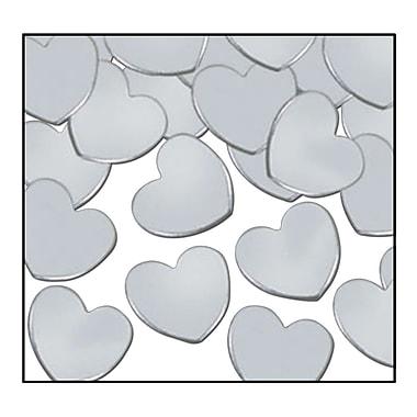 Cœurs Fanci-Fetti, argenté, 5/paquet