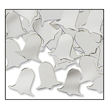 Silver Fanci-Fetti Bells, 5/Pack