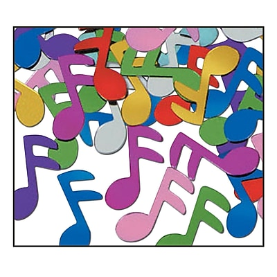 Beistle Fanci-Fetti Musical Notes Confetti, Multicolor, 5/Pack