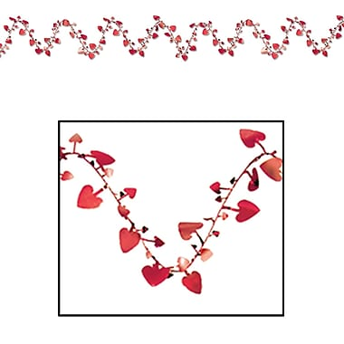 Gleam 'N Flex Heart Garland, 25', Red, 4/Pack
